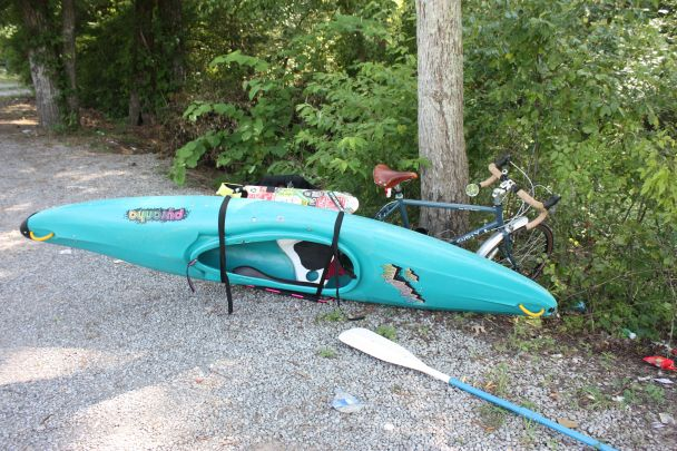 kayak by Xtracycle ... rides better than it looks, truly