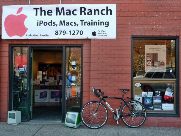 Macs and bicycles ... a perfect combo!